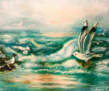 Mare con Gabbiani