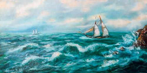 Mare con Veliero